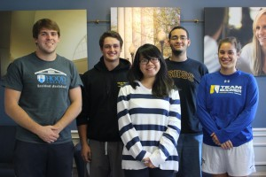 Left to Right: Chris Gardner, Zac Kauffman, Le Nguyen, Samuel Kebede. Anne Lessard represent organization involved in the event.  Photo courtesy of James Brown