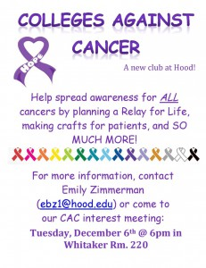 Initial flyer for CAC
